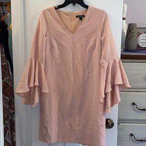 Roz & Ali. Dress. Blush. Size 4. Small stain.